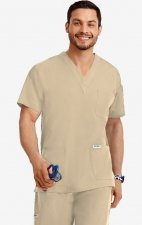 MOBB Classic Unisex 3 Pocket Scrub Top (Men's View) - Khaki (KH)