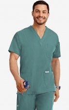MOBB Classic Unisex 3 Pocket Scrub Top (Men's View) - Lagoon (LA)