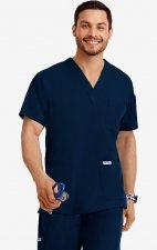 MOBB Classic Unisex 3 Pocket Scrub Top (Men's View) - Navy (NN)