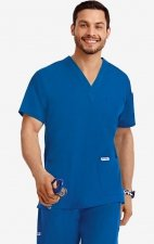 MOBB Classic Unisex 3 Pocket Scrub Top (Men's View) - Royal Blue (RO)