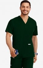 MOBB Classic Unisex 3 Pocket Scrub Top (Men's View) - Spruce (SP)