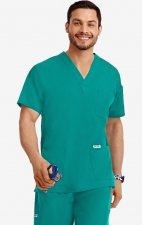 MOBB Classic Unisex 3 Pocket Scrub Top (Men's View) - Teal (TE)