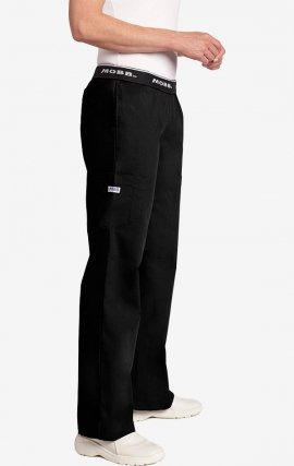 Boot Cut Flip Flap MOBB Scrub Pant - Black (BL)