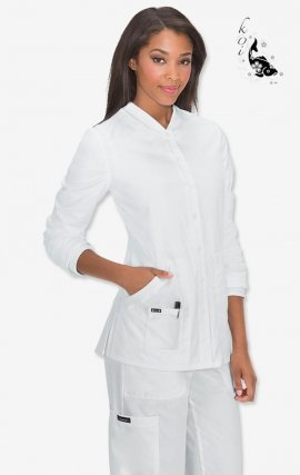 438 White koi Comfort Callie Jacket - White
