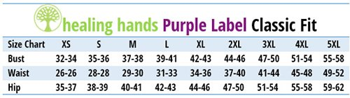 Healing Hands Purple Label - Size Chart
