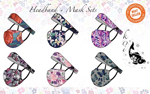 Headband + Mask Set - Ensemble bandeau + masque